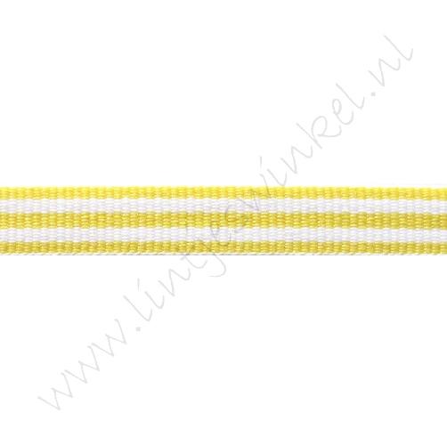 Band Streifen 10mm - Gelb Weiß