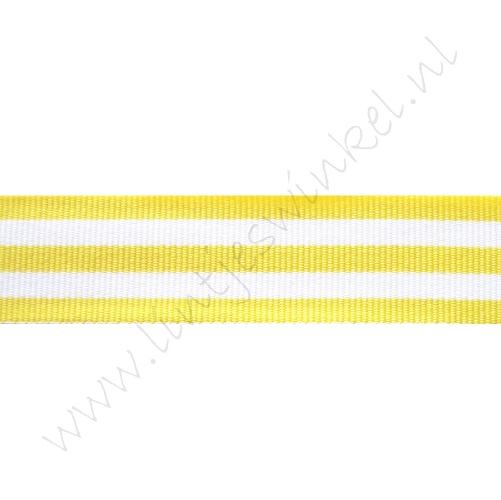 Band Streifen 22mm - Gelb Weiß