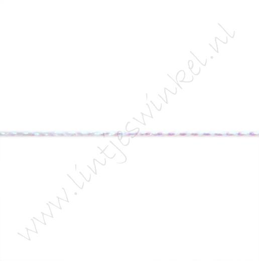 Metallic Kordel 1mm - Weiß