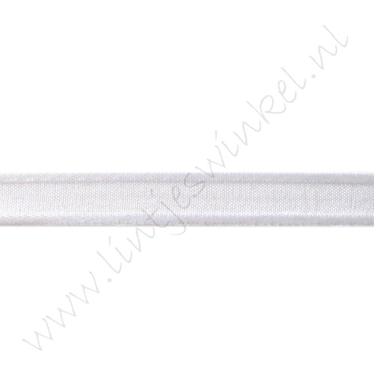 Organza Satinrand 10mm - Weiß