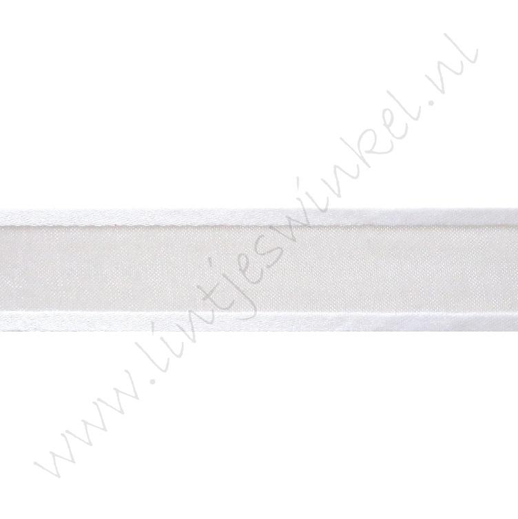Organza Satinrand 22mm - Weiß