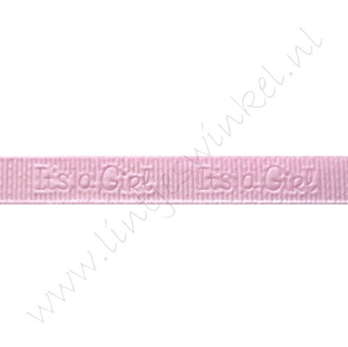 Baby Ripsband 10mm - Its a Girl