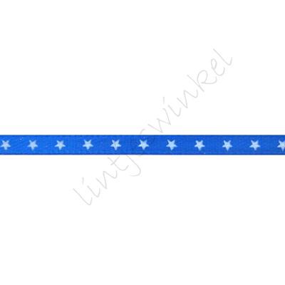 Satinband Sterne 3mm - Dunkel Blau Weiß