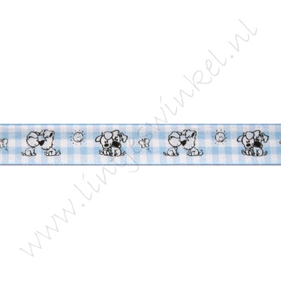 Baby Band 12mm - Wusel & Pip Karo Blau