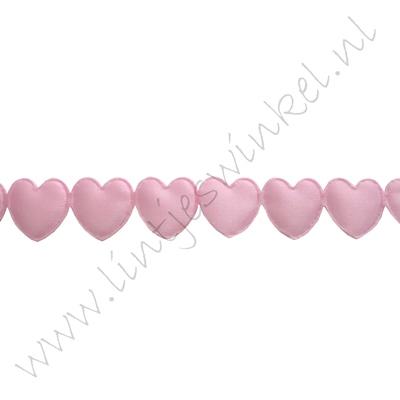 Band Herzen 16mm - Applique Rosa