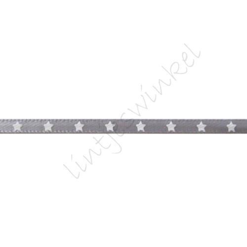 Satinband Sterne 3mm - Silber Grau Weiß