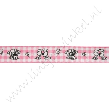 Baby Band 12mm - Wusel & Pip Karo Rosa