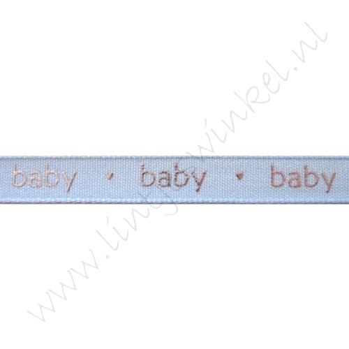 Baby Band 12mm - Baby Blau Silber