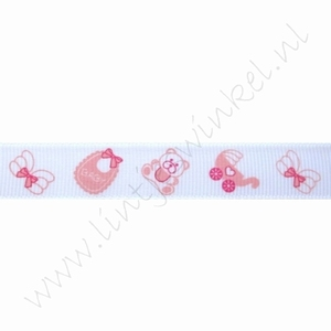 Baby Ripsband 16mm (Rolle 22 Meter) - Baby Rosa