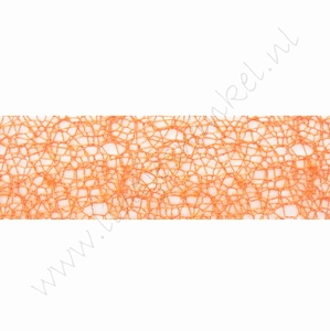 Crispy (Netz) Band 30mm (Rolle 10 Meter) - Orange