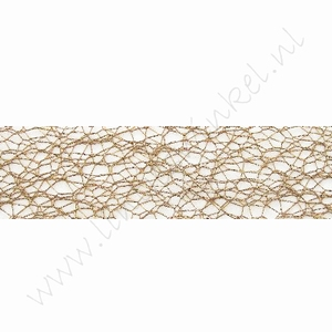 Crispy (Netz) Band 30mm (Rolle 10 Meter) - Braun