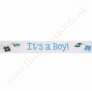 Baby Ripsband 16mm (Rolle 22 Meter) - Its a Boy Wäscheleine