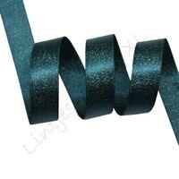 Metallic Satinband 10mm - Grün Blau Gold (347)
