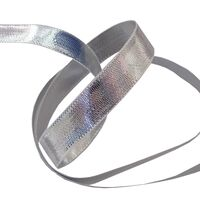 Webband 10mm - Silber Glanz (doppelseitig)