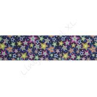 Ripsband Sterne 25mm - Dunkel Blau Disco Sterne