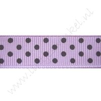 Ripsband Punkte 16mm - Lavendel Lila