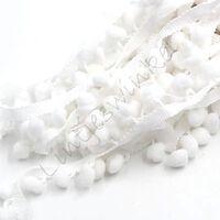 Bommelband 10mm (Maß Pompom) - Weiß