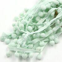 Bommelband 10mm (Maß Pompom) - Minzgrün
