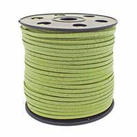 Wildleder Band 3mm - Grün (Imitat)