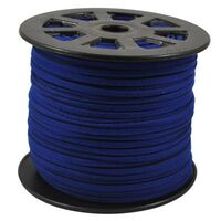 Wildleder Band 3mm - Dunkel Blau (Imitat)