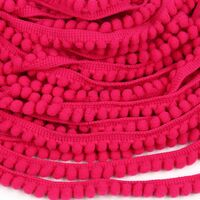 Bommelband 6mm (Maß Pompom) - Neon Pink