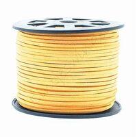 Wildleder Band 3mm - Gold Gelb (Imitat)