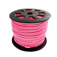 Wildleder Band 3mm - Hot Pink (Imitat)