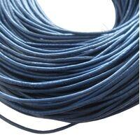 Leder Kordel 1,5mm - Dunkel Blau