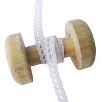 Spitzenband Gehäkelt Bogen 10mm - Weiß