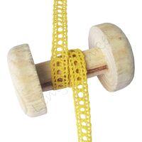 Spitzenband Gehäkelt Offen 10mm - Gelb