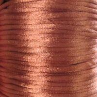 Satin Kordel 2mm - Schokolade Braun (30)