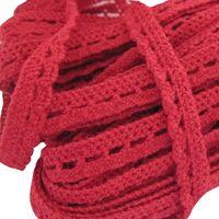 Spitzenband Gehäkelt Bogen 6mm - Rot