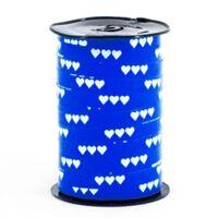 Ringelband 10mm - Herzen Dunkel Blau
