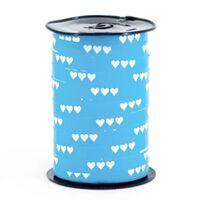 Ringelband 10mm - Herzen Hell Blau