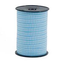 Ringelband 10mm - Karo Hell Blau