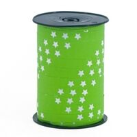 Ringelband 10mm - Stern Apfelgrün