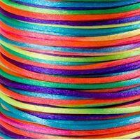 Satin Kordel 2mm - Regenbogen