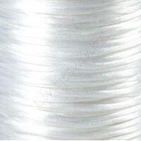 Satin Kordel 2mm - Weiß (01)