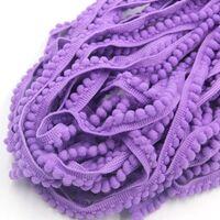 Bommelband 6mm (Maß Pompom) - Lavendel