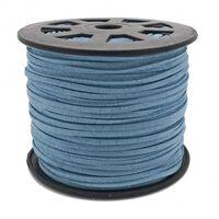 Wildleder Band 3mm - Nil Blau (Imitat)