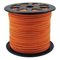 Wildleder Band 3mm - Orange (Imitat)