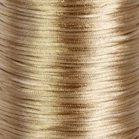 Satin Kordel 2mm - Hell Gold Braun (18)