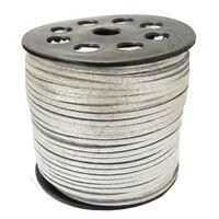 Wildleder Band 3mm - Silber (Imitat)