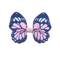 Schmetterling 65x50mm - Ripsband Rosa Marine Weiß
