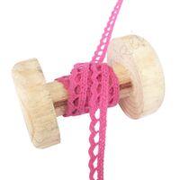 Spitzenband Gehäkelt Bogen 6mm - Pink