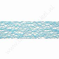 Crispy (Netz) Band 30mm (Rolle 10 Meter) - Aqua
