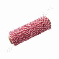 Bakers Twine / Baumwollkordel (Rolle 91 Meter) - Rot Weiß